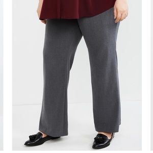 NWT! Gray bi-stretch suiting flare leg pants